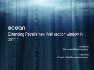 Extending Petrel's new Well section window - Ocean