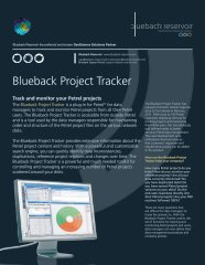 Blueback Project Tracker Flyer - Ocean - Schlumberger