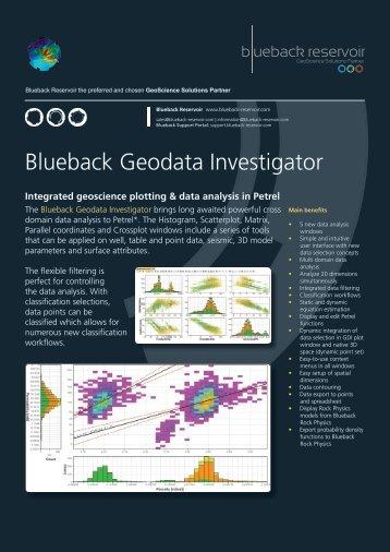 Blueback Geodata Investigator Flyer - Ocean - Schlumberger