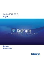 GeoFrame 2012 Bedrock server User Manual - Ocean - Schlumberger