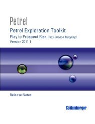 Petrel Exploration Toolkit - Ocean - Schlumberger