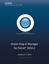 Ocean Plug-in Manager for Petrel - Ocean - Schlumberger
