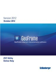 GeoFrame 2012 ZGY Utility User Manual - Ocean - Schlumberger