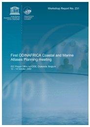 First ODINAFRICA Coastal and Marine Atlases ... - OceanDocs
