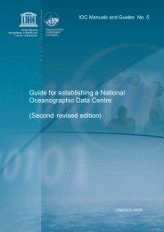 Guide for establishing a National Oceanographic Data ... - OceanDocs