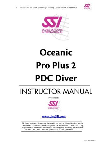 oceanic veo 1.0 manual