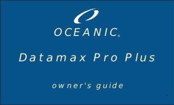 DataMax Pro Plus Owner's Guide - 12-2141-r01.pdf - Oceanic