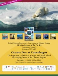 Oceans Day Summary Report - Oceans Day at Cancun