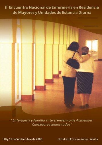 II Encuentro Nacional de Enfermería en Residencia de Mayores y ...