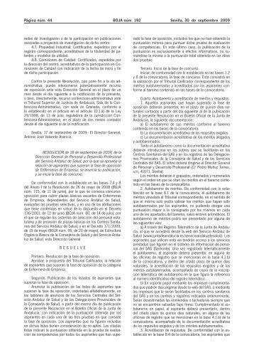 BOJA Nº 192 - Consejo General de Enfermería de España