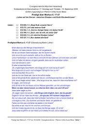 Markus 9, 17-27: Glauben und Nicht-Glauben - Evangeliumskirche