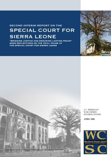 special court for sierra leone - Open Computing Facility - University ...