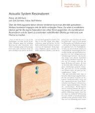 Acoustic System: Artikel in image hifi - Fast Audio