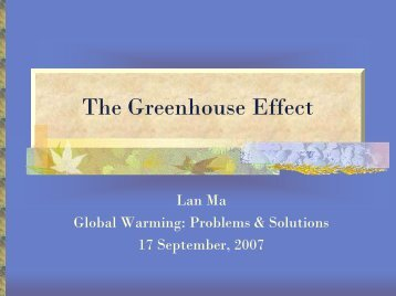 Greenhouse Effect - ocf