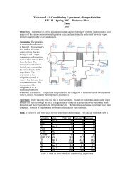 Web-based Air Conditioning Experiment - Sample Solution ME113 ...