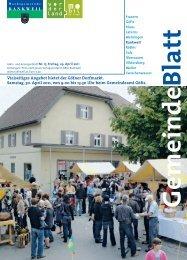 Vielseitiges Angebot bietet der Göfner Dorfmarkt. Samstag, 30. April ...