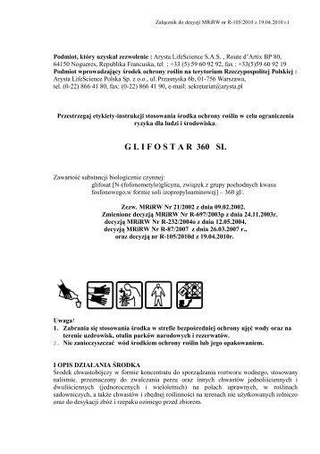 Glifostar 360 SL - ochronasadu.pl