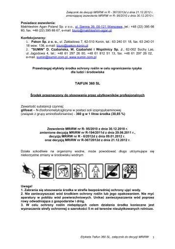 TAIFUN 360 SL - Agrosimex