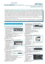 ANTWORTFAX 089 / 32 15 01-11 - Compumess Elektronik Gmbh