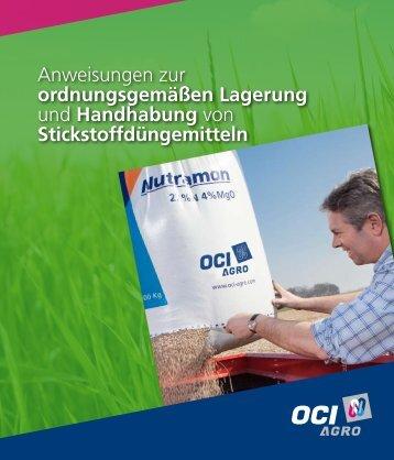 Anweisungen zur ordnungsgemäßen Lagerung und ... - OCI Nitrogen