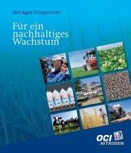 Für ein nachhaltiges Wachstum - OCI Nitrogen