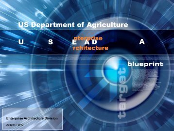 US Department of Agriculture U S D A E A - Office of the Chief ...