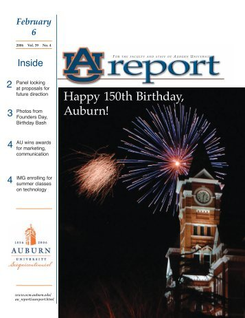 Happy 150th Birthday, Auburn! - Office of Communications and ...