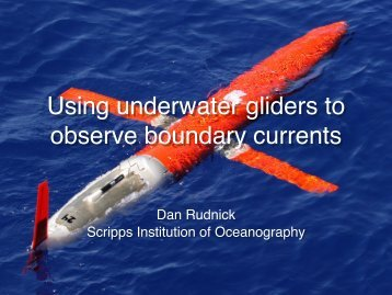 Gliders - Office of Climate Observation - NOAA
