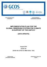 GCOS Implementation Plan - WMO