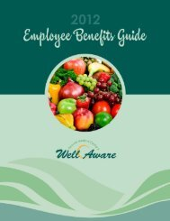 2012 Employee Benefits Guide - Oconee Medical Center