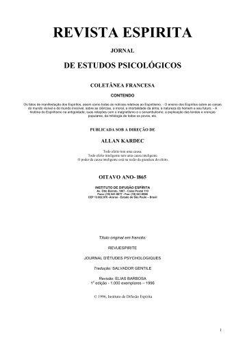 Revista Espírita - Oitavo ano - 1865 - O Consolador