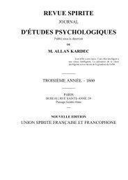 REVUE SPIRITE 1860 - Accueil