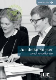 JUC juridisk efteruddannelse april-november
