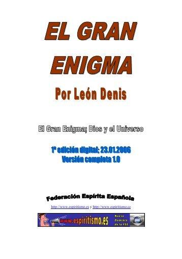 El Gran Enigma; Dios y el Universo - O Consolador