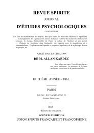 REVUE SPIRITE 1865 - Accueil