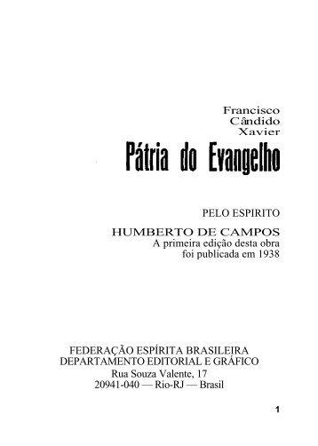Francisco Cândido Xavier PELO ESPIRITO ... - Direito Social