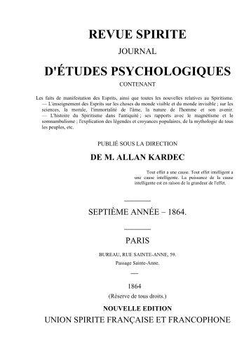 REVUE SPIRITE 1864 - O Consolador