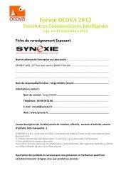 access the full Exhibitor Information Sheet - forum OCOVA