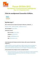 access WEB SENSO's Convention Sheet - forum OCOVA