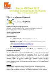 access the Exhibitor Information sheet - forum OCOVA