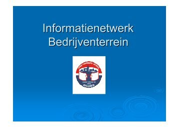 Informatienetwerk Bedrijventerrein - Ocp.be