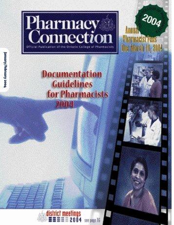 January/February 2004 - Ontario College of Pharmacists