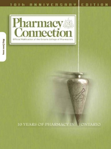 May • June 2004 - Ontario College of Pharmacists