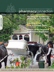 May/June 2009 - Ontario College of Pharmacists