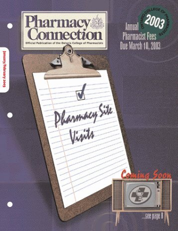 PharmacyConnection- Jan/Feb - Ontario College of Pharmacists