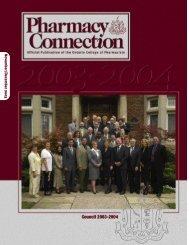 November/December 2003 - Ontario College of Pharmacists