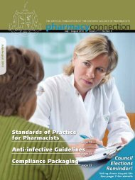 Standards of Practice for Pharmacists Anti-infective Guidelines ...