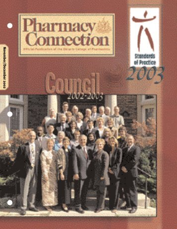 November/December 2002 - Ontario College of Pharmacists