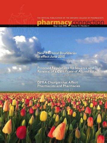 May/June 2008 - Ontario College of Pharmacists
