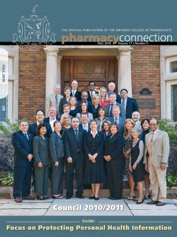 Council 2010/2011 - Ontario College of Pharmacists
